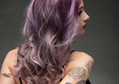 Balayage Pastell-Violett 2
